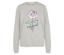 Sweatshirt 'Pink Rose' hellgrau
