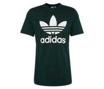 Shirt 'orig Trefoil T' dunkelgrün / weiß
