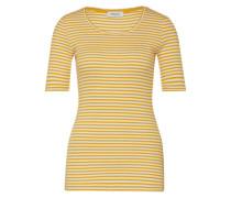 Jerseyshirt 'Krown' goldgelb / weiß