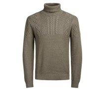 Rollkragen-Pullover braun
