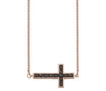 Halskette »Kreuz New Grunge C1578N/90/l6/45« rosegold / schwarz