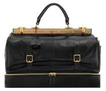 Icons Handtasche Leder 43 cm schwarz