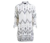 Langes Hemd grau / weiß