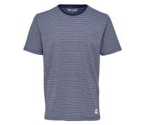 Bedrucktes T-Shirt blau