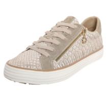 Metallic Sneaker mit Zipper pink