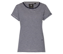 Streifenshirt 'Hika' dunkelblau / weiß