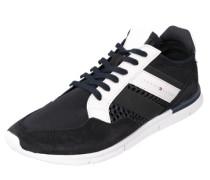 Ultraleichter Sneaker mit Flexkerben dunkelblau / weiß