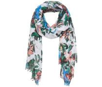 Bedruckter Schal mischfarben / weiß