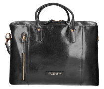 Passpartout Donna Handtasche Leder 40 cm Laptopfach schwarz