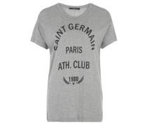 T-Shirt 'saint Germain' grau / schwarz