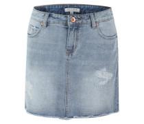 Jeans-Rock in Destroyed-Optik blue denim
