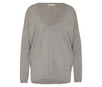 Woll-Pullover mit Kaschmir-Anteil grau