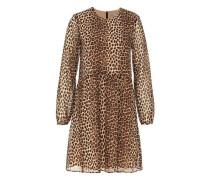 Seidenkleid mit Leopardenprint