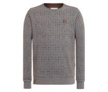Sweatshirt 'Tinte Aufm Füller Iii' ultramarinblau / rauchgrau