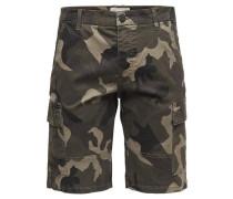 Camouflage-Cargoshorts beige / khaki / oliv