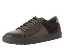 Ledersneaker grau