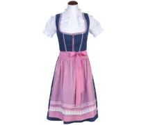 Dirndl 'Emely' 55 cm blau / rosa