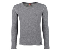 Meliertes Sweatshirt grau