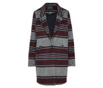 Mantel für den Übergang grau / weinrot