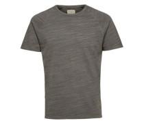 Rundhalsausschnitt-T-Shirt braunmeliert