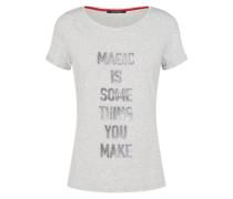 T-Shirt Kurzarm graumeliert