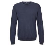 Leichter Pullover aus Merinowolle blau