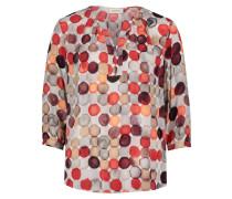 Casual-Bluse mit Muster braun / rot / grau