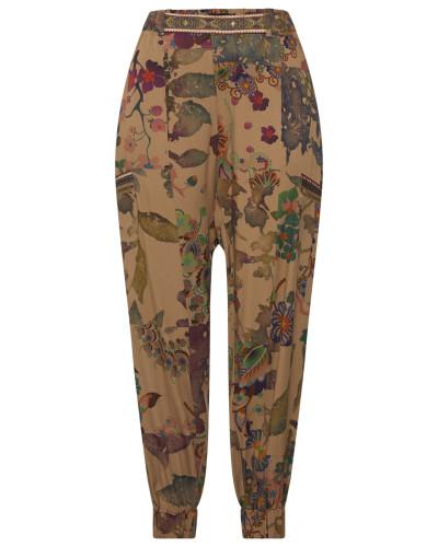 Hose 'pant_Claris' khaki / mischfarben