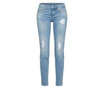 Jeanshose mit Ziersteinbesatz