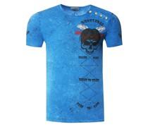 T-Shirt mit verwaschenem Print