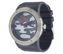 Armbanduhr in sportlichem Design grau