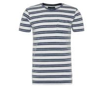 T-Shirt dunkelblau / weiß