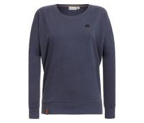 Sweatshirt 'Green Schmusi II' blau