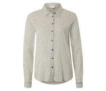 Bluse mit Herzchen-Print creme / mischfarben