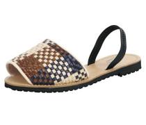 Sandalen im Flecht-Look mischfarben
