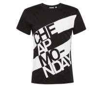 T-Shirt 'Standard tee Prop logo' schwarz / weiß