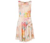 Karree Kleid mischfarben / pfirsich