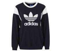 Sweater 'Trefoil' nachtblau / weiß