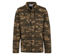 Camouflage-Jacke aus Denim grün