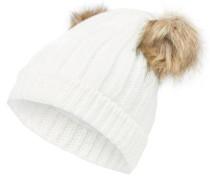 Strick-Hut weiß
