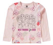 Langarmshirt Friends für Mädchen rosa