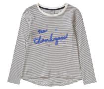 Langarmshirt für Mädchen blau / schwarz / weiß
