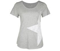T-Shirt CO Slub Star grau