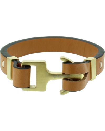 Armband braun / gold