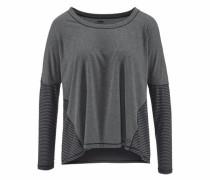 Oversize-Shirt 'core LS Tee' anthrazit / schwarz