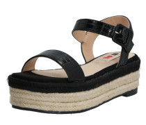 Sandale 'new Tessy' sand / schwarz
