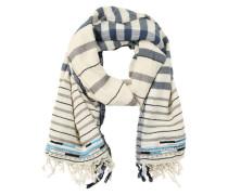 Oversize-Schal mit Zierperlen beige / braun
