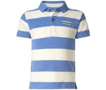 Poloshirt 'Fairhope' blau / naturweiß
