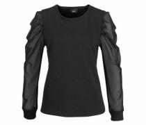 Sweatshirt 'mesh Trent' schwarz