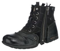 Schnürstiefel aus Leder 'clutch' schwarz